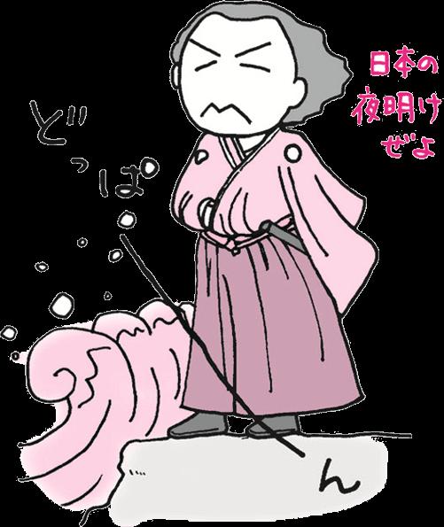 坂本竜馬のイラスト